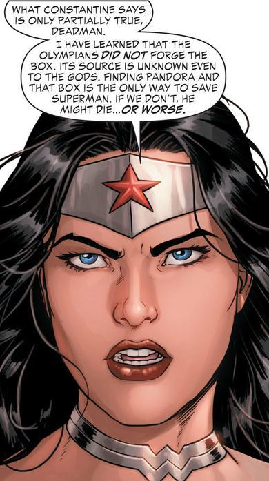 Wonder Woman rolls her eyes at Constantine
