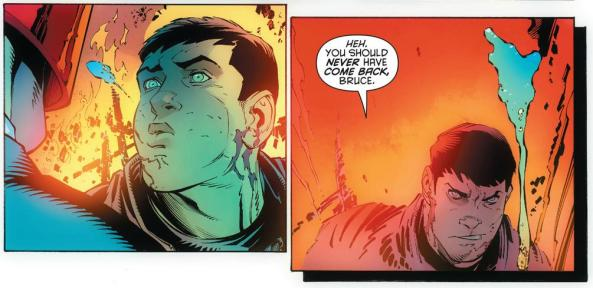 Bruce Wayne spits in the face of Red Hood