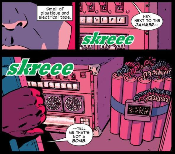 Daredevil discovers the bomb