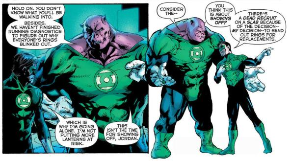 Hal is not showing off to Kilowog
