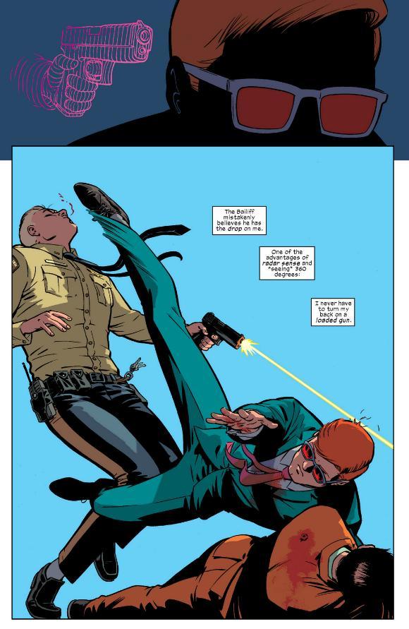 Matt Murdock sees the gun and kicks you