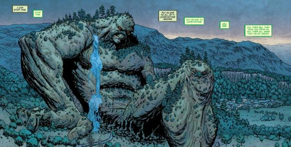 That's the biggest damn Swamp Thing I've ever seen