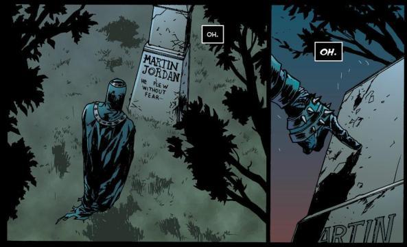 Black Hand at Martin Jordan's grave