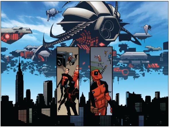 Deadpool, Venom Punisher Elecktra finally see aliens