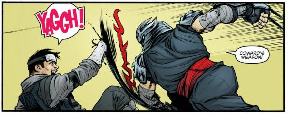 Shredder removes Victor's hand