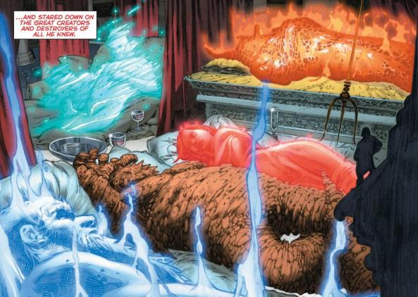 The Old Gods about to be murdered by Darkseid