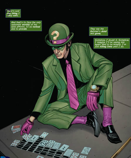the riddler killing time