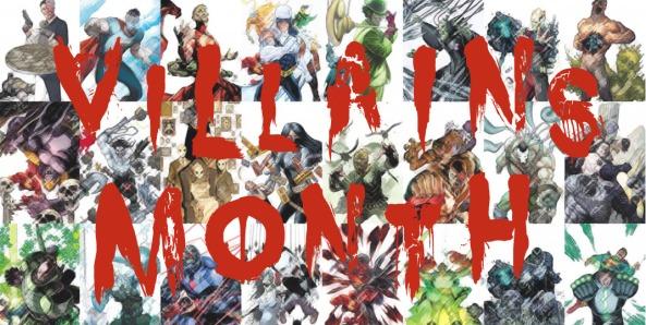 villains month banner