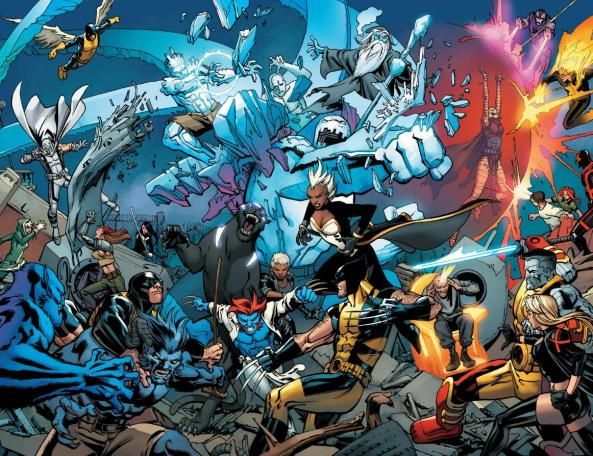 Angel, Magneto, Rogue, Molly, Beast (x3), Storm (x2), Raze, Wolverine, Psyloche, Jean Grey (x2), Sentinel-X, Phoenix, Rasputin (x2), Cyclops (x2), Xavier,