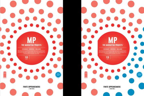 Manhattan Projects 10 and 15 covers