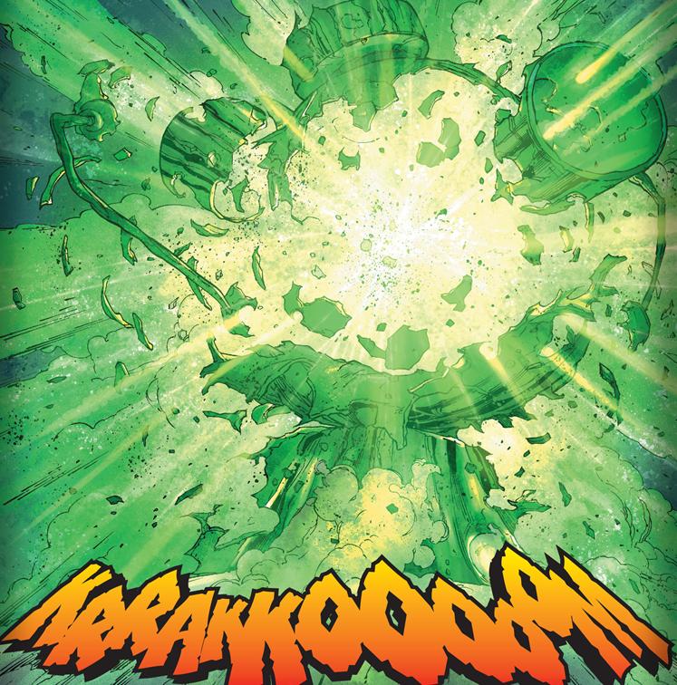 DC Comics Destruction of the Green Lantern Battery
