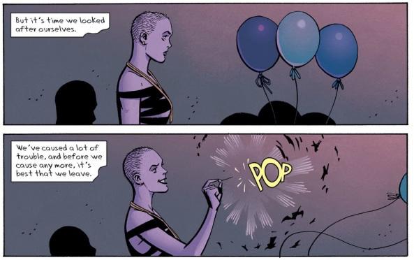 Strife pops balloons