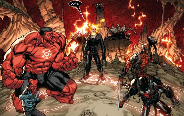 Deadpool's Ninja Turtle look-alike thing is further reinforced by the dual katanas