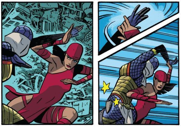 Elektra disarms a serpent
