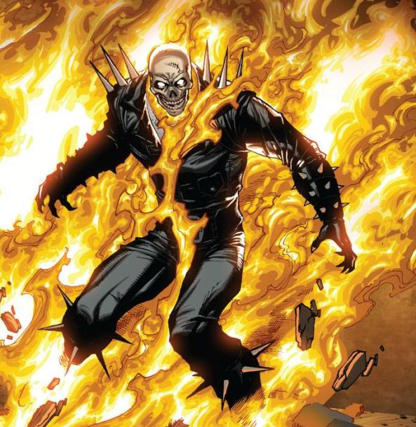 Ghost Rider on Fire