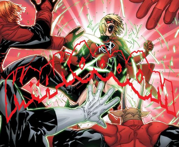Red Lantern Supergirl breaks free