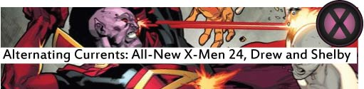 Alternating Currents: All-New X-Men 24, Drew and Shelby