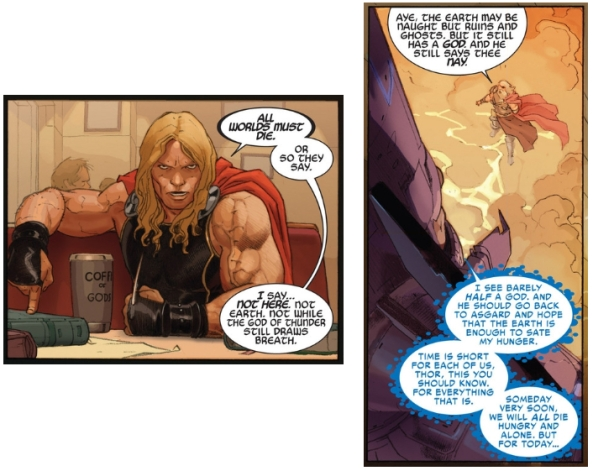 Apparently, much like an elephant, Thor never forgets