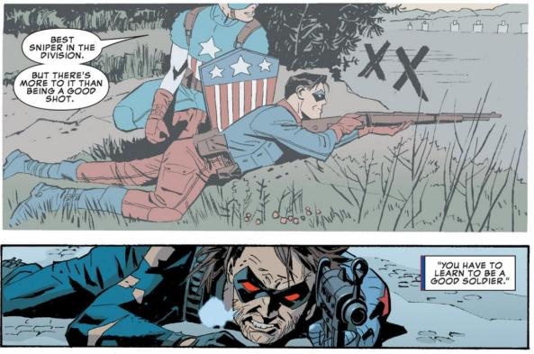 Winter Solider learns a thing or two from Captain America