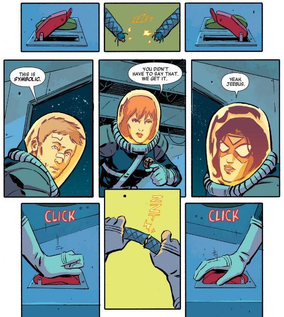 Hawkeye Black Widow Spider-Woman TEAMWORK