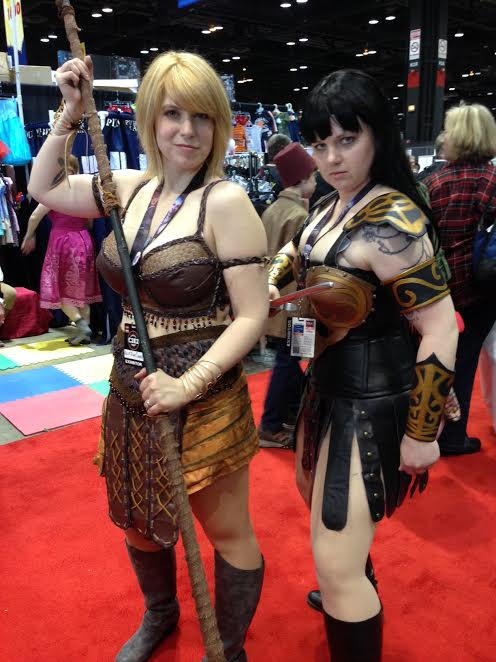 Shelby and Seline as Xena and Gabrielle
