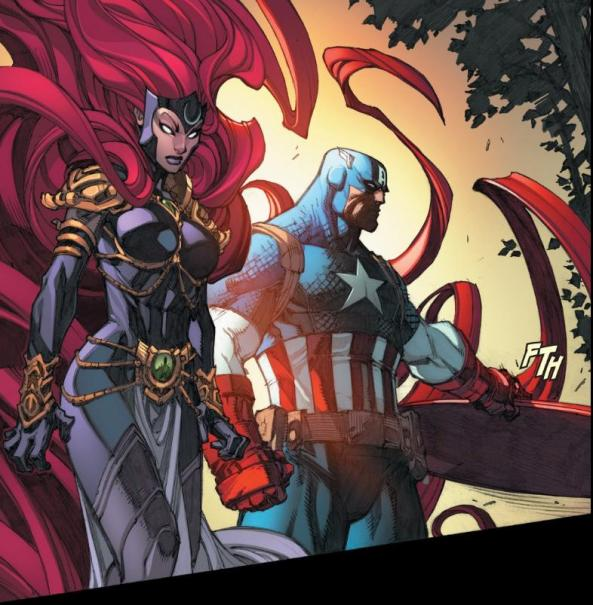 Medusa and Captain America