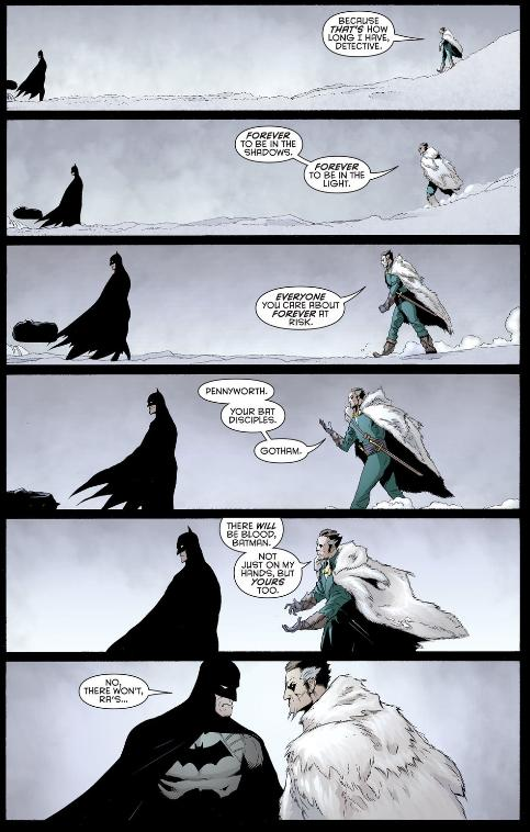 Batman and Ra's al Ghul are going to finish this like men