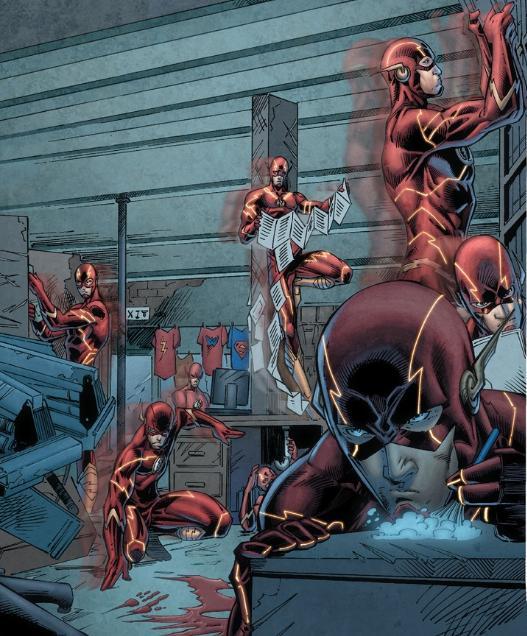 Flash investigates a crime scene