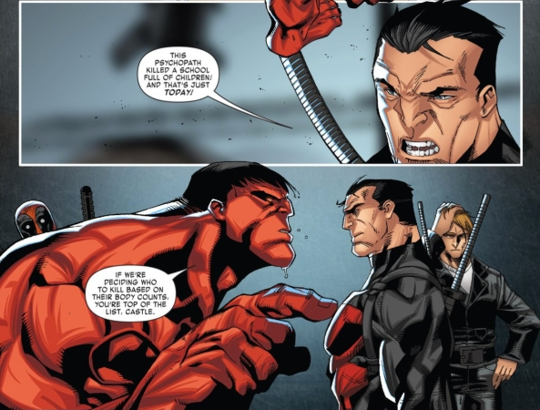 Punisher vs Red Hulk