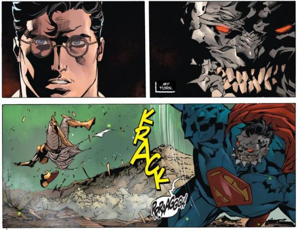 Superman lets Doom punch Hessia