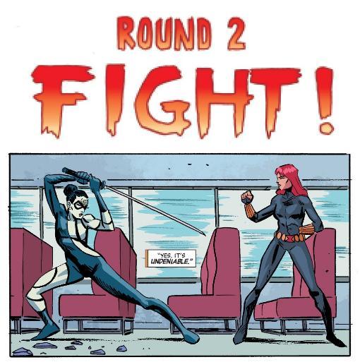 Black Widow vs. Lady Bullseye