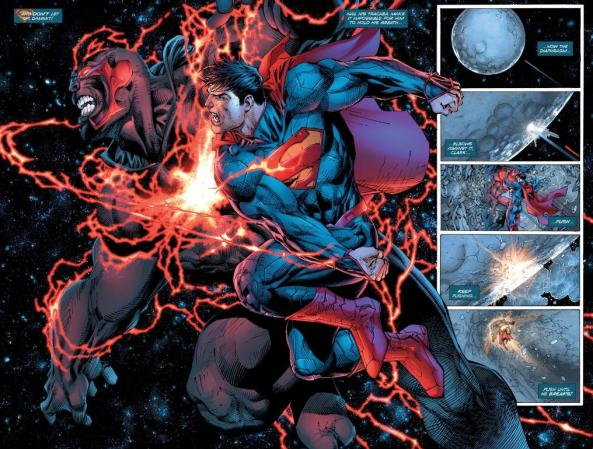 Superman punches Wraith IN SPACE