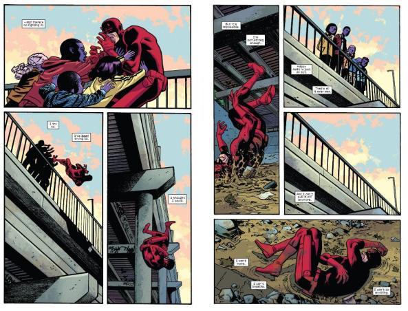 Daredevil falls down