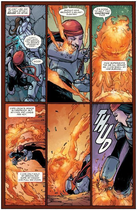 Elektra fights Jack O Lantern