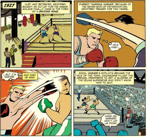 a boxing career in four panels