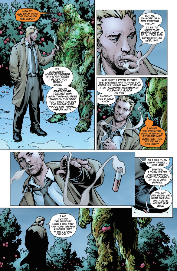 Constantine and Swamp Thing