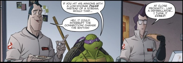 Ray and Egon totally get Donatello