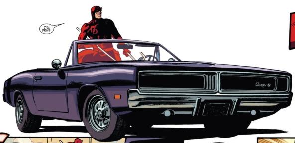 Daredevil behind the wheel