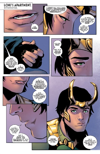 Loki is sorry for being such a comic book character
