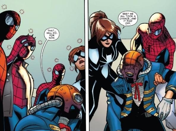 Spider-Mans take a chance
