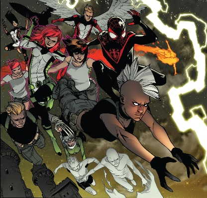here come the x-men and the x-men and spider-man