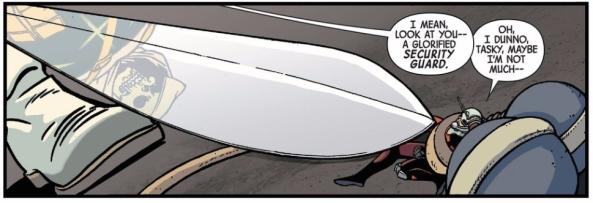 That's a big sword.