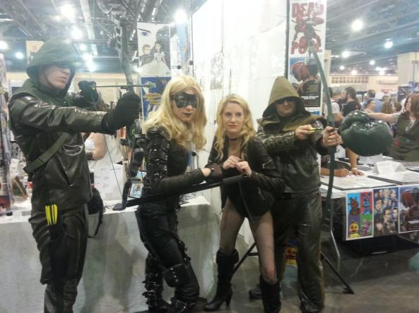That Canary on the left is so good I thought she was the real deal -- and the actress who plays her, Katie Cassidy, was actually at the Con that day, so it REALLY messed with my head