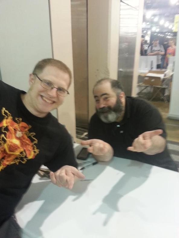"Yes, doing the ""web-shooter"" pose with Dan Slott was a dream come true"