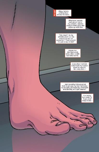 Darrien Cross' foot
