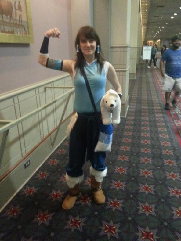 Korra! The stuffed Naga makes it