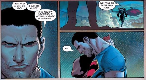 Batman welcomes Superman to the Human Race