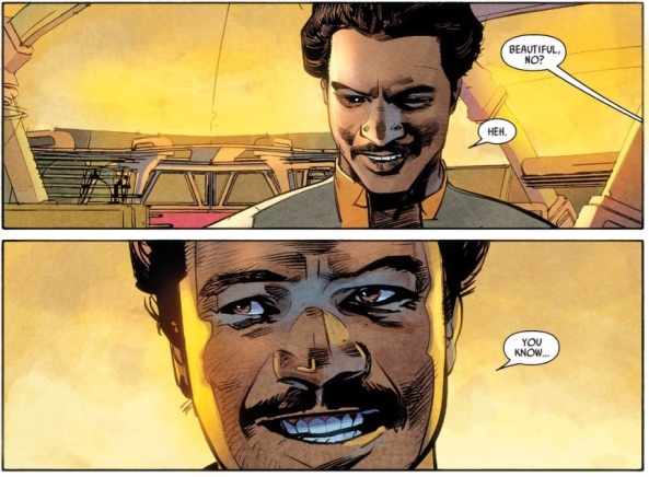 Lando is a charmer