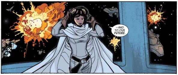 Leia bows to the future