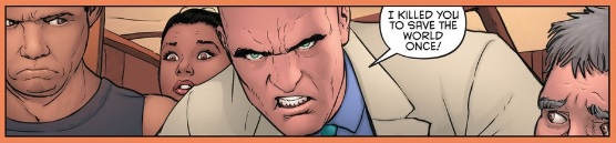 rightfully freaked out by Lex Luthor